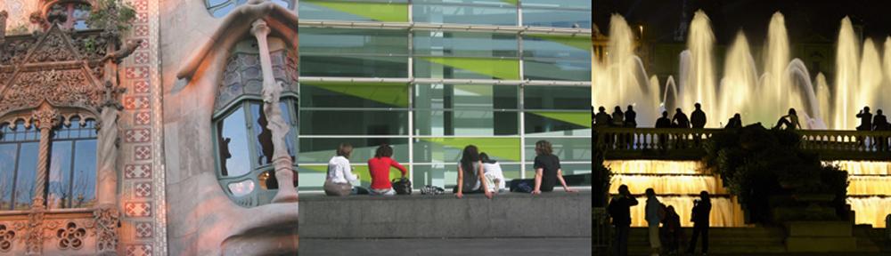 Welches Haus ist das schönste im Häuserblick der Zwietracht? Die Casa Amatller oder die Casa Batlló? Moderne Kunst im Viertel El Ravel: das MACBA. Stimmungsvolle Impressionen: Wasserspiele mit Musik zwischen der Plaça Espanya und dem Palau Nacional.